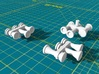 Locomotive 3 Chime Horns Type 3-1 & 3-2 N Scale 3d printed Horns Type 1 & Type 2 Render