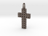 Cross with Depth 3d printed Designed for Stainless Steel