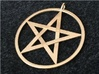 Pentacle Pendant - braided 3d printed The braided pentacle pendant in raw brass. I designed this at a customer's request. The customer ordered it in stainless steel, but if you compare the brass to the steel you'll see that the brass looks smoother.