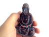 Textured Buddha: primitive red. 3d printed