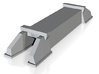 N-Scale 6x6 Double Track Box Culvert 3d printed