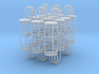 Bistro / Cafe Chair 1/32 24 pack 3d printed