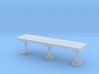 Miniature 1:48 Wood Slat Bench 3d printed