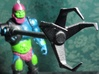 Trap Jaw's Grabber V2 3d printed Black Strong & Flexible Painted