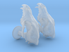 Wolf Skull Cufflinks Pair 3d printed