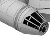"""Millennium Falcon Nose Cone DeAg Studio Scale  3d printed Details of the panels and notches line up with the cockpit tunnel details and notches that i will be offering at a later date, just as they do on the 32"""" filming model."""
