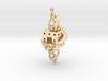 Fractal Earring - El corazón del matemático 3d printed