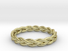 Ring of braided rope - size 8 3d printed