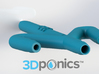 Conduit with Hole - 3Dponics Drip Hydroponics 3d printed Conduit with Hole - 3Dponics Drip Hydroponics