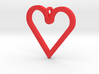 Pendant 'Heart' 3d printed I Love Hearts Pendant