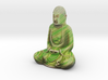 Textured Buddha: jungle leaves 3d printed