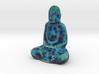 Textured Buddha: electric blue web. 3d printed