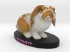 Custom Rabbit Figurine - Peanut 3d printed