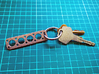 V8 Engine Head Gasket Key Chain 3d printed Key Chain showing large key ring mount