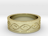 Ring with Eyes - Size 5 3d printed