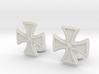 Designer Cross Cufflink 3d printed