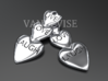 Live Love Laugh Hearts Earrings 3d printed