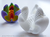 Libidinis Hexagonis Albidus (Touchable Fractal) 3d printed Also available in colored sandstone