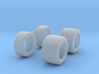 1969-71 Indy car 'wing foot' tires 3d printed