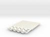 'Sprued' Octahedron #white 3d printed