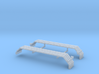 1/64th UFS Triaxle Fenders Flat Ribbed 3d printed