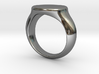 Silver Oval top Ring 3d printed