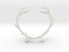Red Deer Antler Necklace With Loops 3d printed