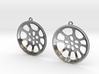 "Double Seconds ""essence"" steelpan earrings, L 3d printed"