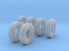 1-16 6xMilitary Tire 1200x20 3d printed