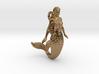 Mermaid pendant 3d printed