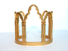 Venetian Window 3d printed Photo of physical model with polished gold Steel finish