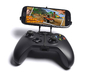 Xbox One controller & Lenovo A850+ 3d printed Front View - A Samsung Galaxy S3 and a black Xbox One controller