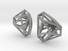 Twisted Triangle Earrings 3d printed