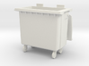 Trash bin with wheels 01.O Scale (1:43) 3d printed