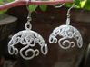 Flower Vine Jhumka - Indian Bell Earrings 3d printed