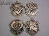 Hufflepuff House Crest - Pendant SMALL 3d printed Stainless Steel