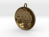 "Low Tenor ""surface"" steelpan pendant, M 3d printed"