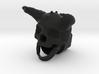 Horned Skull BarrelEnd 14 CCW 3d printed