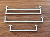 Towel Rail large, 1:12 3d printed Sprayed with chrome paint
