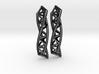 Triple Helix Earrings 3d printed