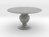 1:144 Scale Miniature Round Dining Table 3d printed