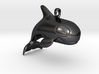 Baby Orca Pendant 3d printed