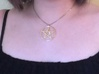 Pentacle Pendant - braided 3d printed The braided pentacle pendant when it's worn. Chain (and model) not included.