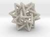 Tetrahedron 5 Compound, round struts 3d printed Printable in sandstone, with rounded points and edges