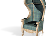 1:144 Micro Scale Highland Plaid Carrosse Chair 3d printed