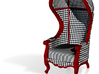 1:144 Micro Scale Courtly Check Carrosse Chair 3d printed