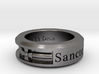 Size 13 Saint Michael Ring  3d printed