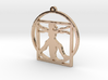 Davinci Woman Necklace Pendant 3d printed
