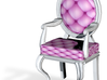 1:144 Micro Scale Pink/White Louis XVI Oval Chair 3d printed