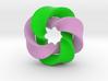 0168 8-Torus [2-2-2-1] pink-green (5cm) 3d printed